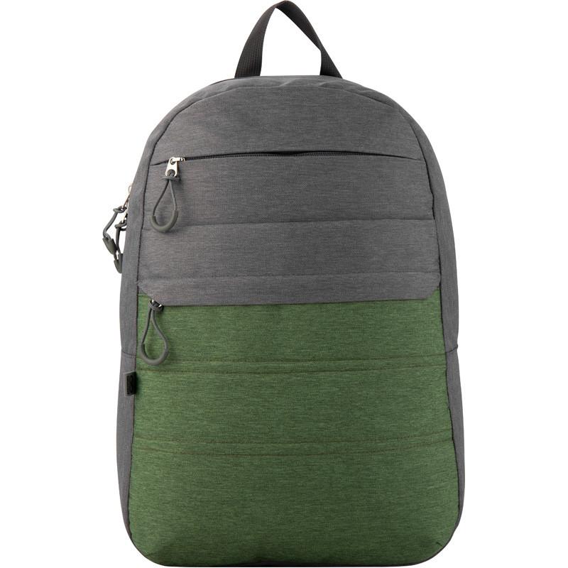 Рюкзак GoPack Сity 118-2 сірий, зелений  44621