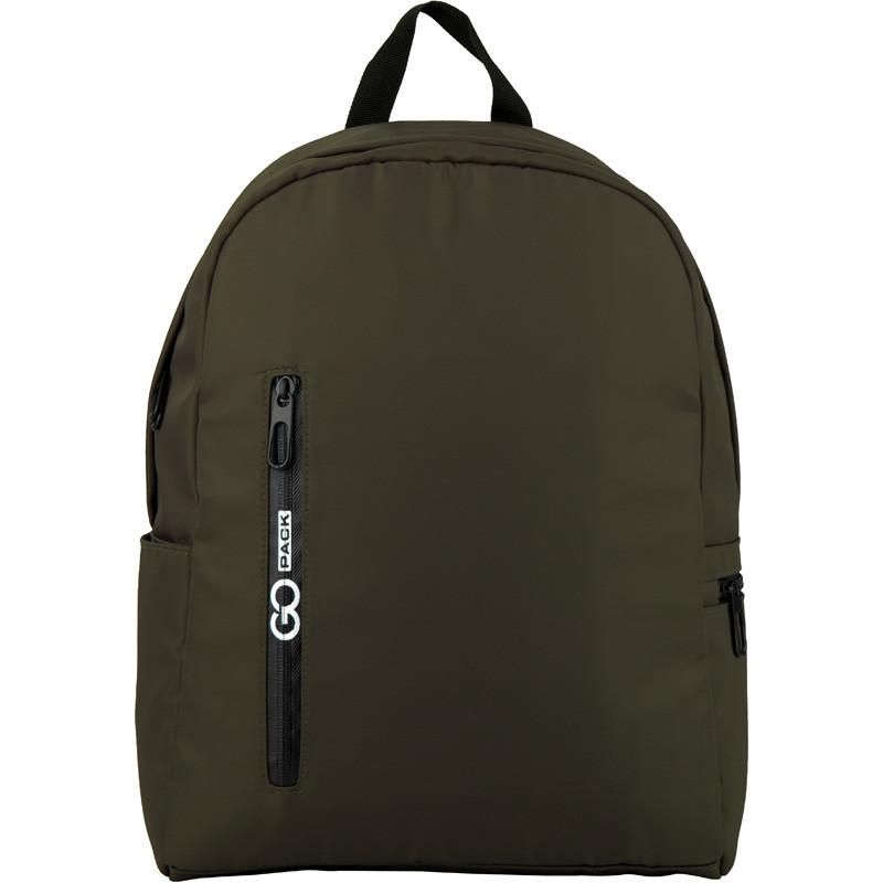 Рюкзак GoPack Сity 156-3 серо-зеленый |44658