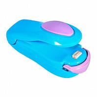 Ручной мини запайщик пакетов запаиватель UKC Bag Sealer голубой