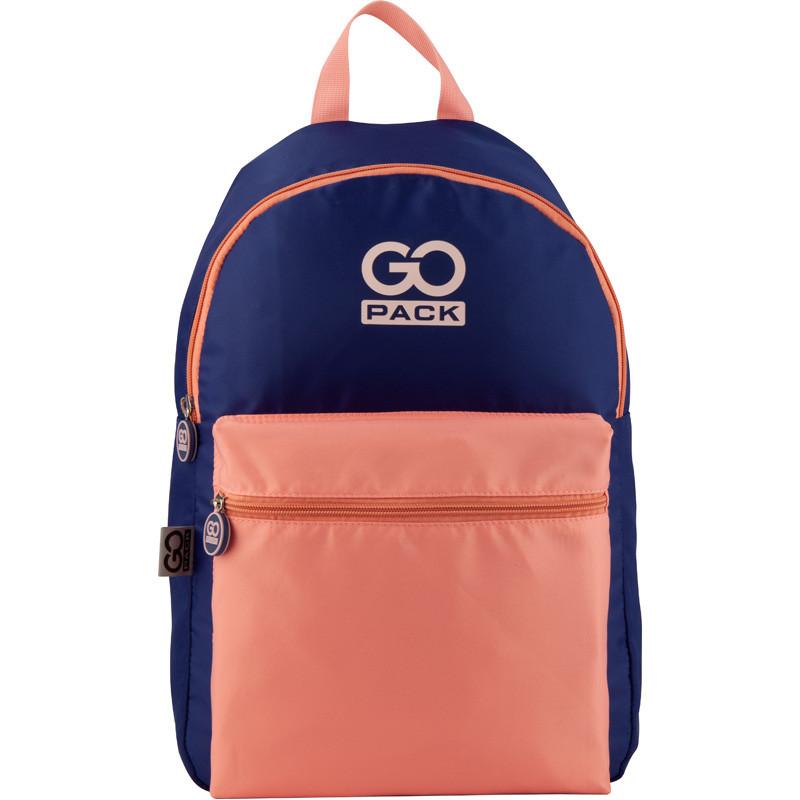 Рюкзак GoPack Сity 159-3 фиолетовый, персиковый |44665