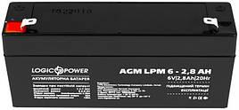 Аккумуляторная батарея 6V 2.8Ah LogicPower AGM