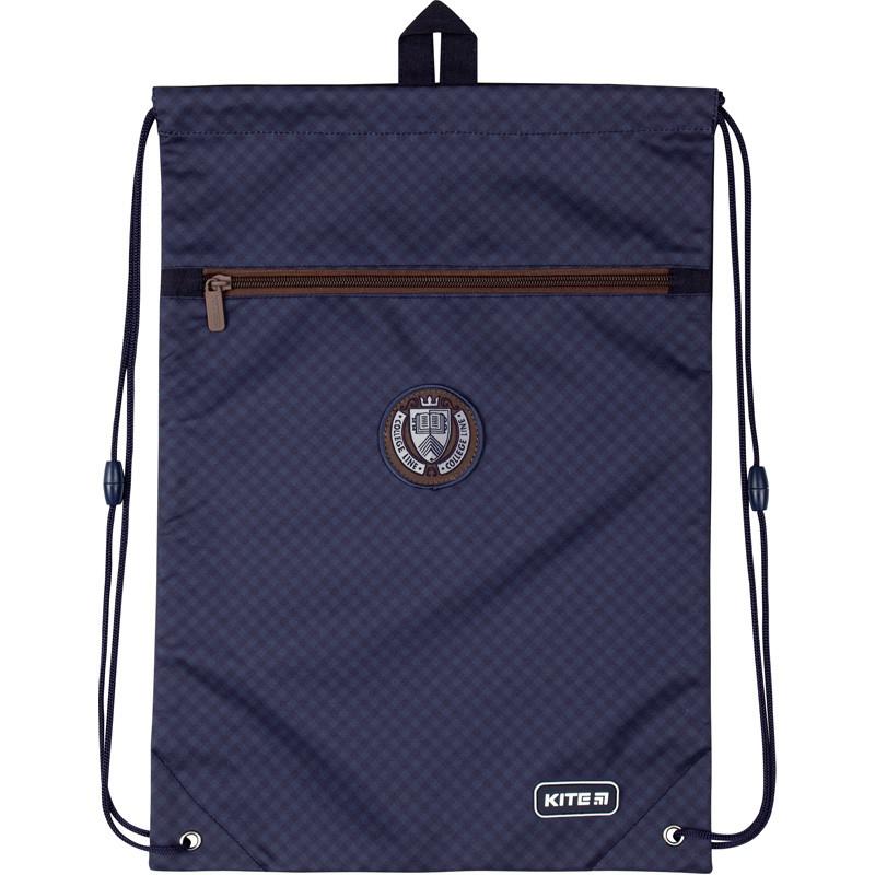 Сумка для обуви Kite с карманом 601M College Line blue  44897