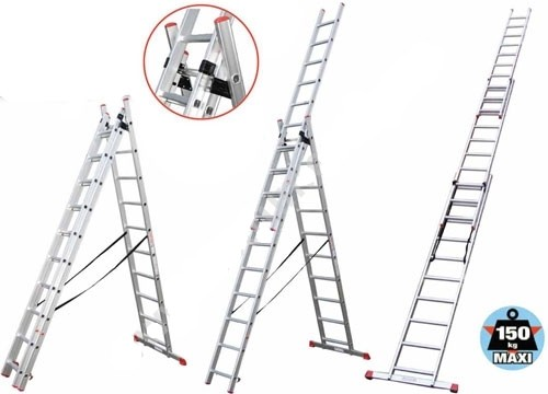 Лестница универсальная ПРАКТИКА/КРОК 3х11 7,33 метра