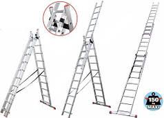 Лестница универсальная DELTA/КРОК 3х11 высота 6,77метра