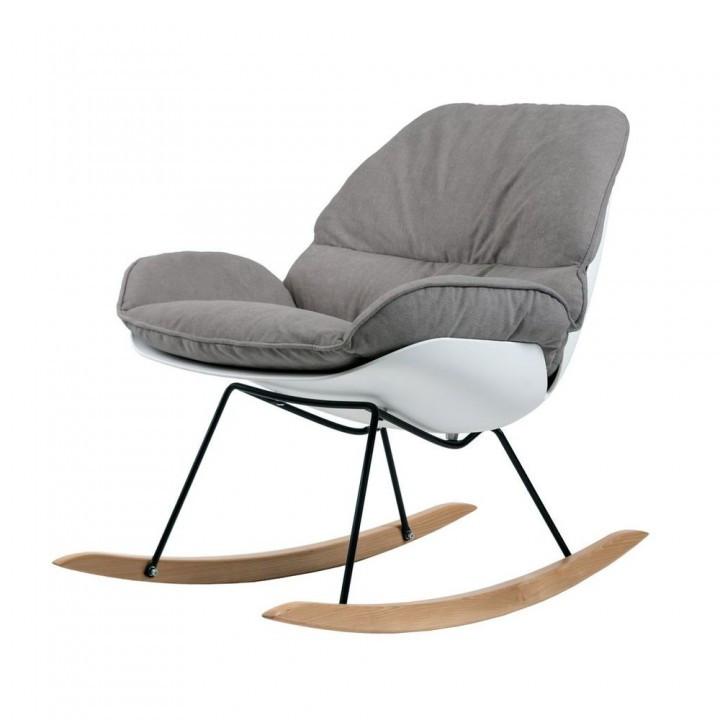 Кресло- качалка SERENITY (Серенити) серое от Concepto