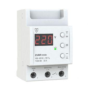 Реле контроля напряжения ZUBR D32T, 32А (с термозащитой)