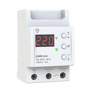 Реле контроля напряжения ZUBR D32T, 32А (с термозащитой), фото 2