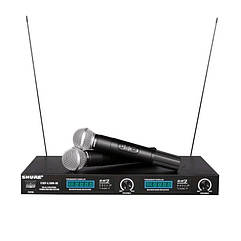 Радиосистема SHURE UHF LX 88 III 2 беспроводных микрофона Черный 006241, КОД: 1766287
