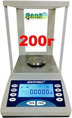 Весы лабораторные FEH-A на 200 г, электронные весы в лабораторию