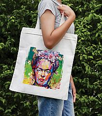 Сумка-шоппер з яскравим принтом Frida1