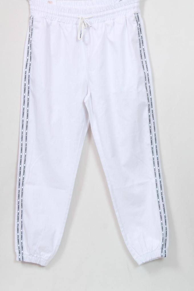 Турецкие женские белые брюки в спортивном стиле, размеры 48-66
