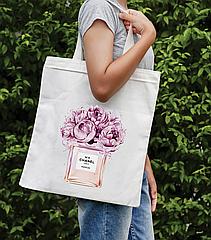 Сумка-шоппер з яскравим принтом Chanel