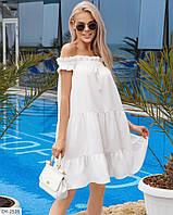 Прогулочное платье свободное с открытыми плечами арт.  5167