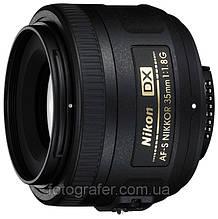 Объектив Nikon AF-S DX Nikkor 35mm f/1.8G Уценка (витринный образец) / в магазине
