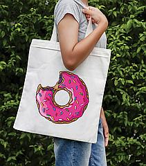 Сумка-шоппер з яскравим принтом Donut