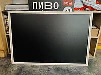Доска магнитная грифельная черная 60х90см., фото 1