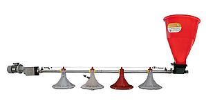 Линия кормления для кур (бройлеров 2000 голов)  - 24 м // 1700 несушек