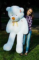 Большой плюшевый медведь мишка белый цвет мягкий на подарок