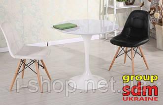 Стол обеденный Тюльпан, деревянный, диаметр 80 см, цвет белый, фото 3