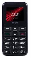 "Мобильный телефон Ergo F186 Solace Dual Sim Silver; 1.77"" (160х128) TN / клавиатурный моноблок / ОЗУ 32 МБ / 32 МБ встроенной + microSD до 16 ГБ /"