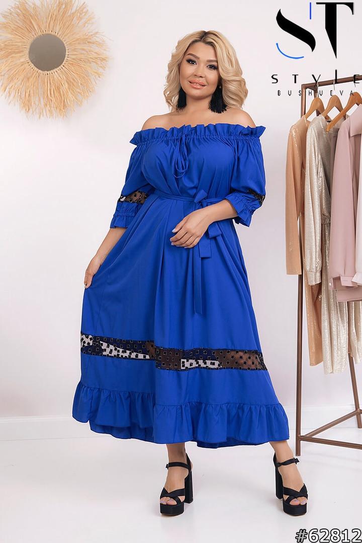 Длинные летние платья больших размеров, Летнее платье открытые плечи больших размеров, Платья больших размеров,