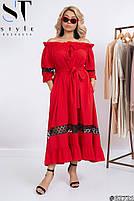 Длинные летние платья больших размеров, Летнее платье открытые плечи больших размеров, Платья больших размеров,, фото 2