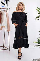 Длинные летние платья больших размеров, Летнее платье открытые плечи больших размеров, Платья больших размеров,, фото 4