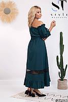 Длинные летние платья больших размеров, Летнее платье открытые плечи больших размеров, Платья больших размеров,, фото 5
