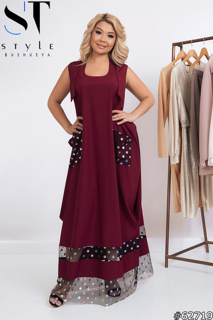 Женские длинные платья больших размеров, Летнее платье на запах больших размеров, Платья больших размеров,