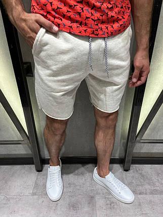 Мужские трикотажные шорты серые на шнурке, фото 2