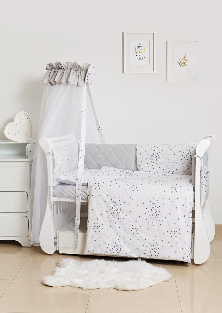 Детская постель Twins Premium Glamour 4029-TG-10S, Starlet Grey 8 эл