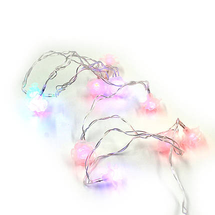 Xmas гірлянда LED 20 Parts-6 квіточка трояндочка(ПРОДАЄТЬСЯ ТІЛЬКИ ЯЩИКОМ!!!), фото 2
