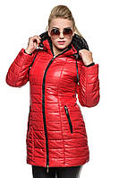 Красная женская курточка зима 2015-2016