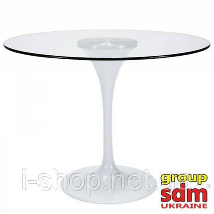 Стіл Тюльпан G, скляний, діаметр 80 см, фото 2