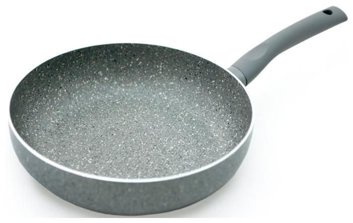 Сковорода круглая алюминиевая  Ø28х5.8см с индукционным дном Большая сковорода
