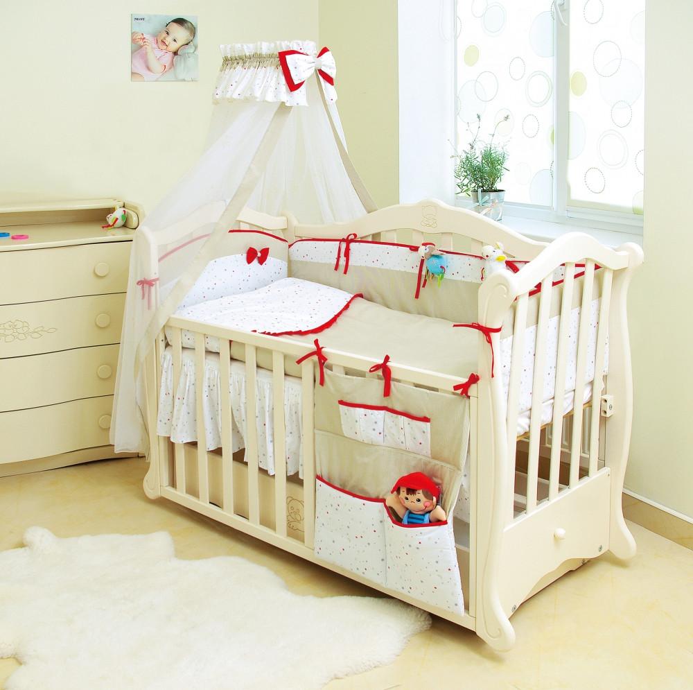 Детская постель Twins Premium Starlet 4028-P-021, Beige 8 эл