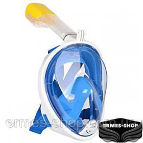 Инновационная маска для дайвинга | Панорамная подводная маска для ныряния | Снорклинга S\M, Черная L\Xl, Синий