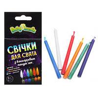 Свечки с цветным огнем, 6 штук PL4005