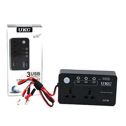Преобразователь AC/DC 200W 12V LCD / USB, фото 2