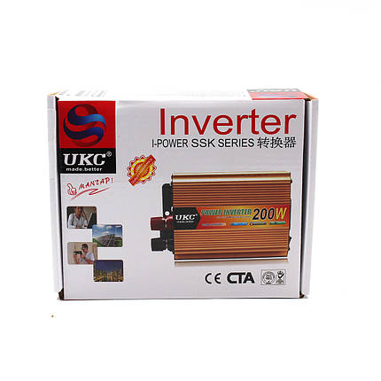 Преобразователь, инвертор UKC - AC/DC, 12V/200V, 200W, фото 2