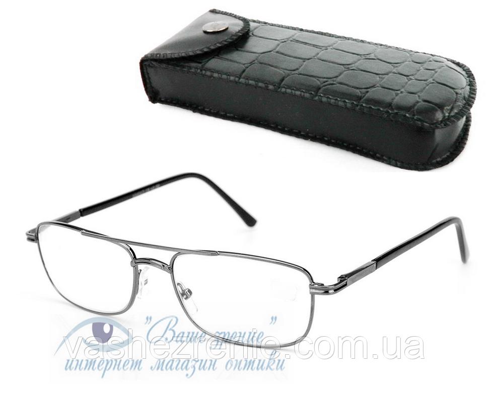 Очки мужские для зрения +/- (СТЕКЛО!) Код: 2198