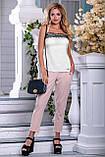Женские летние штаны с лампасами и карманами. Розовые, фото 5
