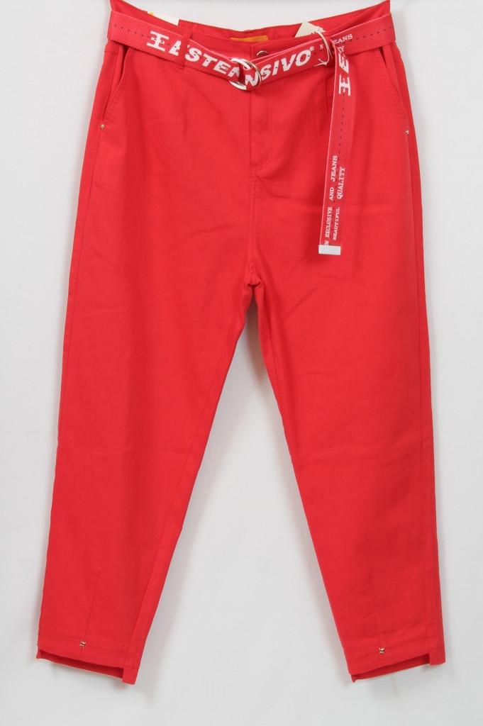 Турецкие женские летние брюки с поясом, размеры 50-60