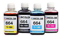 """Чернила для Epson L364 - Комплект чернил 664 """"INCOLOR"""" 4x180 мл (B/C/M/Y)"""