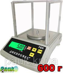 Весы лабораторно-ювелирные, FEH до 600 г,  весы электронные Днепровес