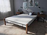 Кровать MELBI Лара Люкс Вуд Двуспальная  140190 см Черный КМ-015-02-3чер, КОД: 1397580