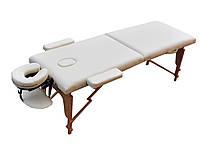 Массажный стол  двухсекционный ZENET. Кремовый, размер S ( 180*60*61 )
