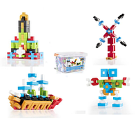 Детский набор для обучения пластиковый конструктор Guidecraft IO Blocks  (1000 различных геометрических фигур)