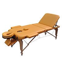 Массажный стол деревянный ZENET. Песочный, размер L ( 195*70*61), фото 1