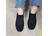 Кроссовки 36,37 размеры  черные текстильные с компенсатором на амортизаторах легкие К2218, фото 4